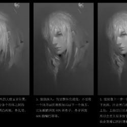 (免费)原石惊鸣_J头像步骤图和头像人物参考图!