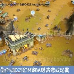 Unity3D科幻科技场景 类星际 红警u3d手游场景CI-FI Tower Defense Pack 2 1.0
