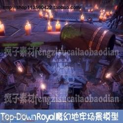Unity3d Top-Down Royal 1.2 魔幻地牢场景模型游戏素材