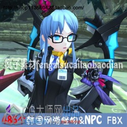 韩式风格Closers 封印者 怪物 NPC 角色 换装 武器 3D游戏FBX模型