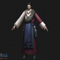 藏族男子,蒙古包,少数民族中年男人,藏民