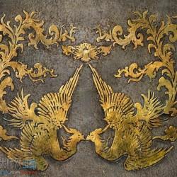 各种金属盔甲素材 皮质 龙的浮雕图案