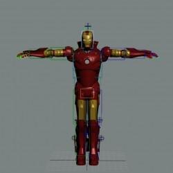 钢铁侠初版 Iron Man Rigged,绑定动作的钢铁侠模型下载