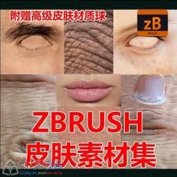 zbrush皮肤素材alpha Texture贴图 4r6 4r7 4r8 CG素材3D建模人体