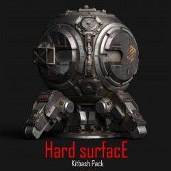 硬表面CG模型包Hard Surface Kitbash Pack 01 1.04G