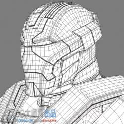 钢铁侠mark17超精细3D打印高模(可穿戴,无三角,超屌!!!)