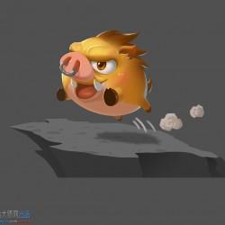 一个可爱的小猪的绘画步骤图