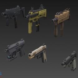 FPS武器资源一套,手枪、步枪、狙击、机枪、手雷、散弹枪、火箭筒、冲锋...
