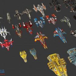 免费飞机-战机-飞船-科幻战舰CG模型下载,请用 好压 解压。
