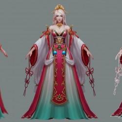 超美艳中国古风风美女角色模型一枚