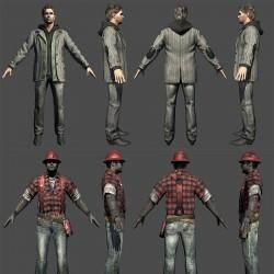 美国梦魔 现代人物模型合集 3dmax obj角色模型