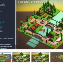 Low-Poly Park低模公园 38组模型