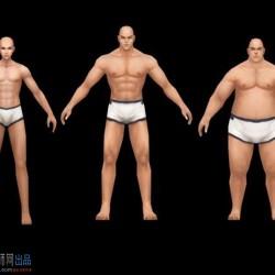 一组超实用的角色裸模