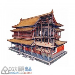 穿墙透壁-剖视中国经典古建筑.李乾朗(含水彩图)[全彩]