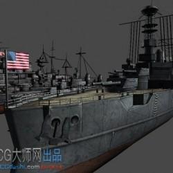 Unity3D模型 WorldWar2Warships 二战主题 战船 舰艇 潜艇模型包(12种)