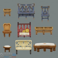 Q版椅子桌子9张-chairs9knids