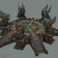 超级精细魔幻风游戏场景模型 手绘3D模型物件