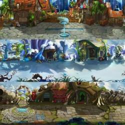 日韩手游场景 横版地图 战斗背景 设定参考 原画CG素材 资料图集