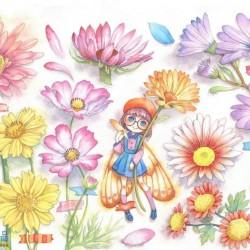 价值万元的水彩手绘课程。国语,从基础班到花草班,人物班,背景班都有
