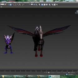 幼齿龙(紫)+黑天马模型