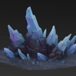 精美的水晶,冰石模型下载