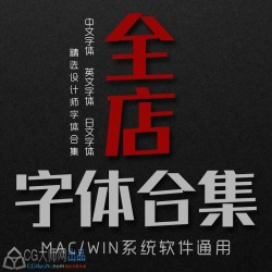 数千款字体合集ps中文英文日文海报广告平面设计师字体包下载pc&mac