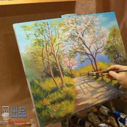 高清油画教程 大师油画风景技法示范教程 38分钟