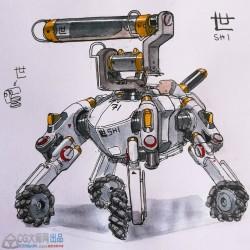 (免费)奥地利概念设计师Sheng Lam作品集 100P 汉字 机器人