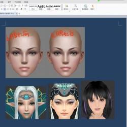 免费3D角色女性面部及妆容简述