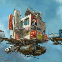 免费下载CG原画插画设计阿根廷概念设计师复古未来主义Alejandro Burdisio