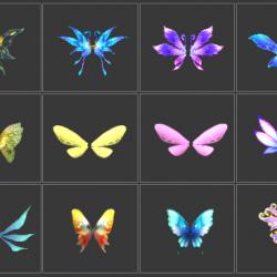 史上最全的翅膀模型大集合(一共132个)很便宜相当于免费