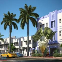 迈阿密城市场景3D模型合辑免费下载