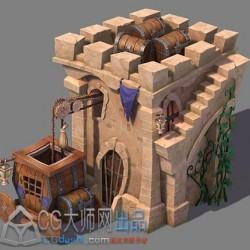 防御塔三转二场景教程包括三转二场景的概念创建灯光 三转二场景的制作流程