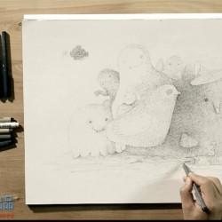 [王东晟] 插画师的十二种武器——针管笔篇 美术教学插画过程视频笔法