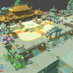 最强中国风武侠手绘场景《武动乾坤》!Unity3d/MAX双版