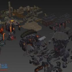玄幻类游戏藏地传奇场景模型集合,3ds max格式,包含上千个模型,贴图完整