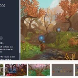 unity3d场景魔幻森林场景 Fantasy Root Forest