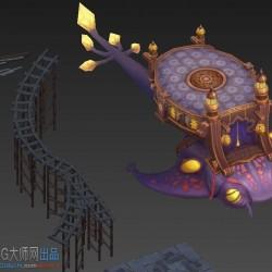 格斗宝贝3D横版场景资源unity3D场景游戏场景模型 暗黑类手游横版场景模型 unity3d...