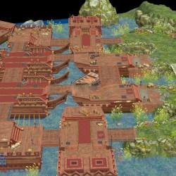 手游码头战场场景模型可用于u3d场景