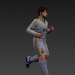3dmax模型足球运动员(带绑定有动画)