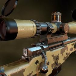 免费AWM的高清大图!有瞄准镜 消音器配件!