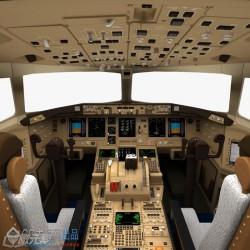 cg模型波音777飞机驾驶舱