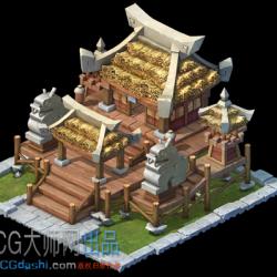 古代Q版升级建筑素材
