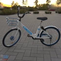 哈罗单车maya模型