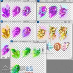 游戏UI素材 设计素材 日韩Q版手游 UI图标图标 游戏素材ICON PNG