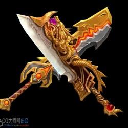 屠龙宝刀,谁与争锋!高精度很霸气武器模型素材