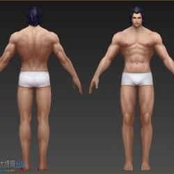 一套不错的裸模低模手绘模型