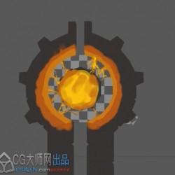 3Dmax游戏建模教程-3Dmax武器建模系列之闪电武器模型 uv 贴图制作