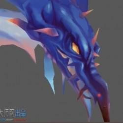 3DMAX手绘贴图教程-炫酷的海王蛇贴图绘制