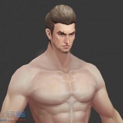 定制男主角裸模体型